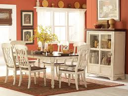 white dining table set. Amazon.com: Homelegance Ohana 7 Piece Dining Table Set In White/Warm Cherry: Kitchen \u0026 White G
