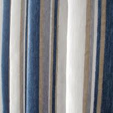 ... Wonderful Striped Blue Poly Living Room or Bedroom Curtains ...