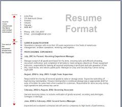 Performa Of Resume Awesome Format For Resume 48 R 48 Marvelous Written Formal Template Well