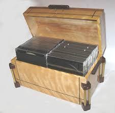 handmade wood cd box open view