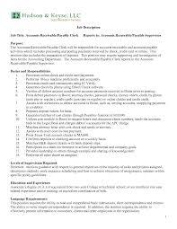 Accounts Payable Clerk Jobon Template Receivable Duties Great Istant