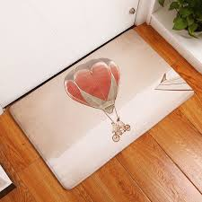 Flannel Floor Mats Hot Air Balloon Printed Bedroom Living Room ...