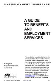 Edd Benefits Chart 7 Unemployment Insurance Benefits Uib Common Place Handbook