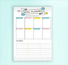Meal Budget Planner Daily Budget Template