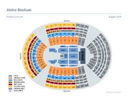 Aloha Stadium Seating Chart Concert Aloha Stadium Seating Chart For Eagles Concert Wallseat Co