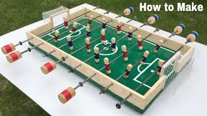 table football. how to make a table football at home - foosball mini soccer easy build