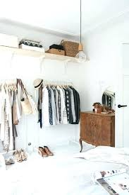 Open Closet Ideas For Small Spaces Open Closet Bedroom Easy Styling