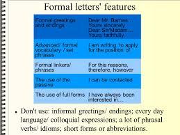 Formal letters miraf SlidePlayer