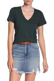 Madewell | <b>Short Sleeve V-Neck</b> T-Shirt (Regular & Plus Size ...