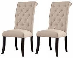 ashley furniture signature design tripton dining room side chair set upholstered vine cal