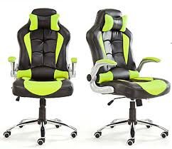 office bucket chair. Office Chair Desk Racing Computer With High Back PU Leather Executive (GREEN): Amazon.co.uk: Kitchen \u0026 Home Bucket