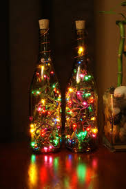 christmas tree lighting ideas. Hanging Right Christmas Tree Lights : Creative Decorating Idea With Amber Bottle Colorful Night Lighting Ideas