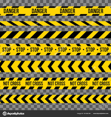 Black And Yellow Stripes Border Creative Vector Illustration Of Black And Yellow Police Stripe
