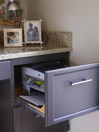 Hidden Printer Cabinet Custom Kitchen Cabinets Pictures Options Tips Ideas Hgtv