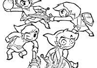 Zelda Coloring Pages With Page Link Master Sword From Ocarina Of