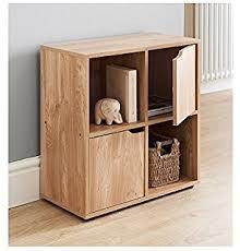 office cube door. MDF Oak Finish 4 Cube Shelf Books CDs \u0026 DVDs Storage Unit 2 Doors Open Office Door R