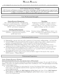 Resume Hr Generalist Cool Sample Manager Free Career Throughout