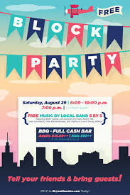 Block Party Flyers Templates Block Party Flyer Poster Design Template Poster Design