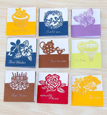 Birthday Business Cards 50pc Lot Cake Follow Universal Greeting Card Mini Holiday Card