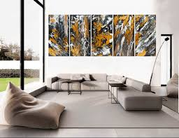 heart of the earth by qiqigallery 60x24 stretched canvas original modern abstract wall art for office walls