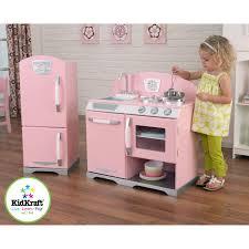 modest on your kidkraft wooden kitchen at kidkraft 2 piece pink retro and refrigerator 53160