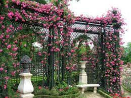 antique iron garden trellis designs
