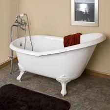 Emma Cast Iron Slipper Clawfoot Tub Imperial Feet Bathroom - Clawfoot tub bathroom