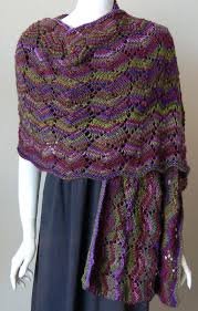 Knit Shawl Pattern Simple Shell Lace Shawl Knitting Pattern