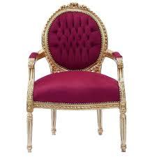 Living Room Chair Styles Classic Baroque Style Medallion Splat Red Velvet Gold Frame Living