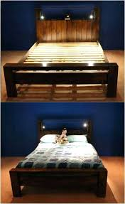 making a bed frame out of wood simple wooden frame diy cal king wood bed frame