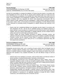 Intelligence Specialist (I&TS) or Intel Spec (S&T) Resume Sample - After-