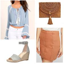 Fantastic long sleeve outfit winter ideas Fall Winter 21st Birthday Outfit With Brown Skirt Light Blue Peasant Blouse Light Blue Espadrilles Discover Walks Stunning 21st Birthday Outfit Ideas College Fashion
