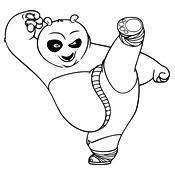 Kleurplaat Kung Fu Panda 4034