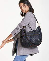 MZ Wallace Gray Quilted Magnet Crosby Hobo – Fashionbarn shop