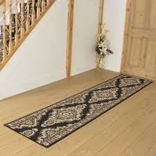 turkesh black hallway carpet runner rug traditional hall extra very long