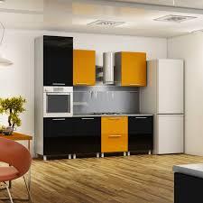 small kitchen furniture. Creative Small Kitchen Ideas - Black And Yellow Color Combination Furniture B