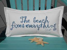 The BEACH FIXES EVERYTHING indoor or outdoor pillow
