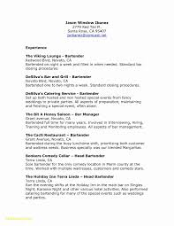 Comcast Resume Sample Bartender Resume Examples Inspirational Bartending Resume Template 25