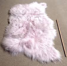 pink sheep skin rug pale pink sheepskin rug triple x cm pink sheep skin rug