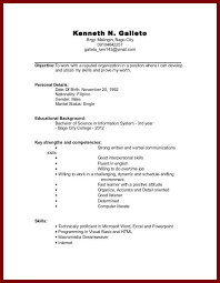 Resume For Students In College With No Experience Student Resume