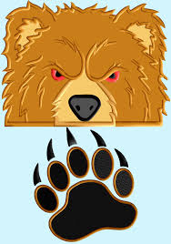 Bear Claw Embroidery Design Bear Peeker Applique Design With Claw 2 Designs 3 Sizes
