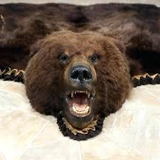 bear rug fake faux bearskin skin o state room