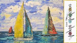 painting of a sailboat simple sailboat seascape acrylic painting tutorial using palette