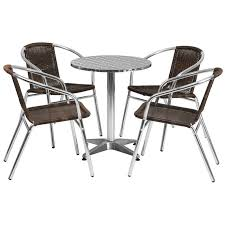 stainless outdoor table set 23 5 round