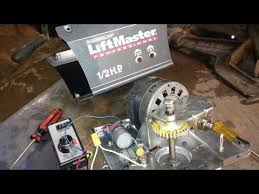 garage door motorSalvaged garage door motor and gear box  YouTube