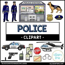 Community Helpers: Police Clip Art