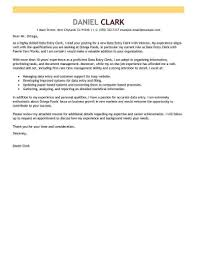 Free Resume Cover Letter Template Download Draft Of Data Entry Clerk