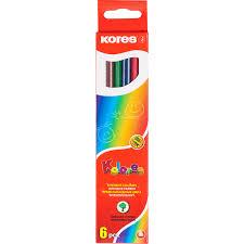 <b>Карандаши цветные Kores</b>, <b>6</b> цветов - Магазин - Комсомольская ...