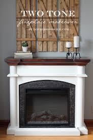 two tone fireplace makeover lovegrowswild com