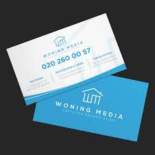 Modern Professional Business Business Card Design For Woning Media